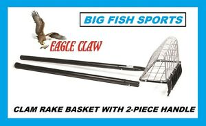 CLAM RAKE BASKET NEW! Two Piece Long Handle #04220-002 EAGLE CLAW NEW! RAKE