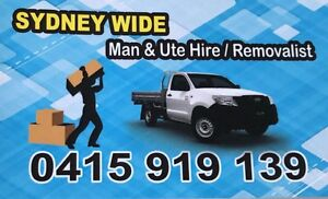 Hornsby Area Man And Ute Hire And Removals Hornsby Area Preview