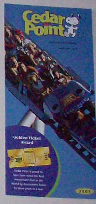 2001 Cedar Point Amusement Park Brochure