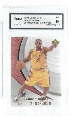2005 Upper Deck Lebron James 3d 2964/6000 GMA 9 Cavaliers