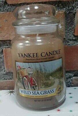 YANKEE CANDLE CANDELA PROFUMATA GIARA GRANDE WILD SEA GRASS RARA