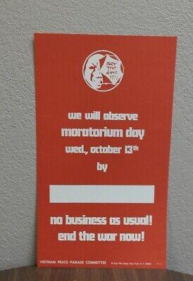 Vietnam Peace Parade Moratorium Day Poster
