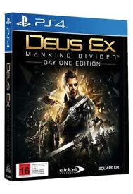 Deus Ex: Mankind Divided PS4 game (used) - Collection Only