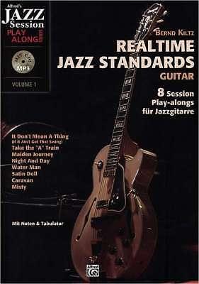 Gitarre Noten Tabulator CD - REALTIME JAZZ STANDARDS - 8 Session Play-alongs