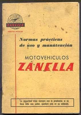 Brochure Motorcycles Zanella Models 48 cc 125 cc 175 cc segunda mano  Argentina