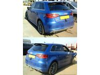 2014 AUDI S3 2.0 TFSI SPORTBACK SEPANG BLUE Salvage Damaged Repairable Golf R
