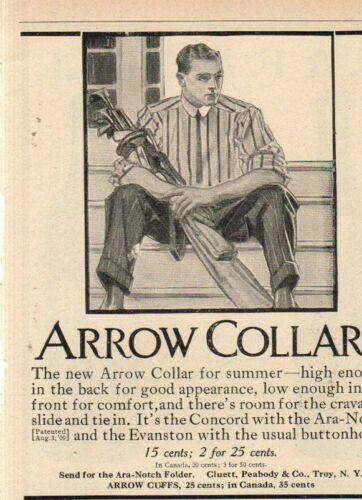 1910 J.C. Leyendecker Original Arrow Collar Ad - The Golfer - rare image