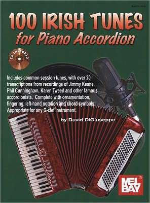 Akkordeon Noten - 100 IRISH TUNES for Piano Accordion - inkl. Online Audio -