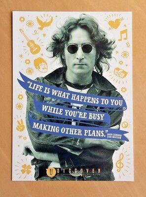 1 Postkarte | John Lennon | The Beatles Musik Werbekarte Post Card Ad Card