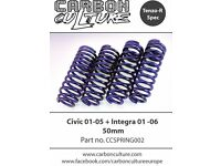 Tenzo R 50mm springs. Fit Civic EP2/ EP3