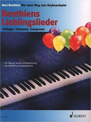 Keyboard Klavier Noten - BENTHIENS LIEBLINGSLIEDER -Schlager-Chansons-Evergreens