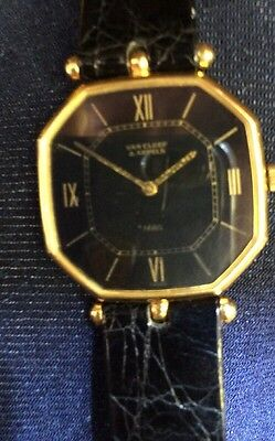 Unique VAN CLEEF & ARPELS 18K GOLD  OCTAGONAL  WATCH MANUAL WIND  THIN VINTAGE