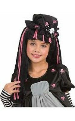 Mädchen Kind Schwarz Rosa Gotik Doll-Ista Kostüm - Rosa Doll Kostüme