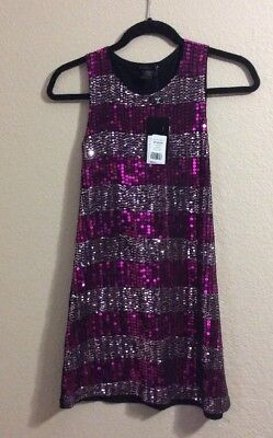 Flowers by Zoe - Girls XL 12/14 - Pink Sequins - NWT - MSRP $128