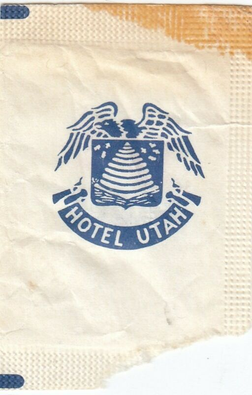 Utah Hotel Sugar Packet 1962
