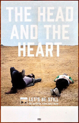 THE HEAD AND THE HEART Let's Be Still Ltd Ed RARE Poster +FREE Indie Rock Poster