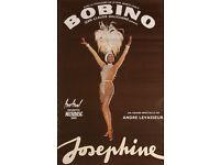 JOSEPHINE BAKER - ORIGINAL SHOW POSTER - PARIS c1975 (print, picture)