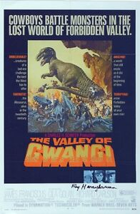 RAY-HARRYHAUSEN-Signed-11x7-Photo-THE-VALLEY-OF-GWANGI-CLASH-OF-THE-TITANS-COA