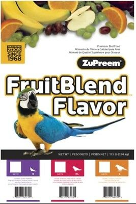 ZuPreem Fruit Blend Large Macaw Fruitblend bird food diet parrot pellet 35lb