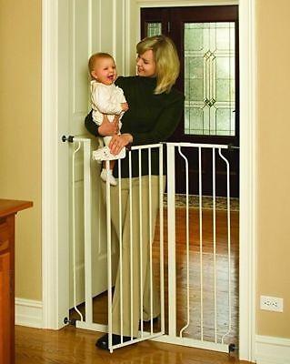 Stair Door Baby Child Pet Pressure Mount Extra Tall Walk Through Gate Sturdy