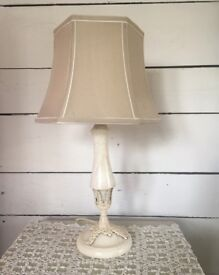 Shabby chic vintage marble lamp