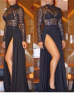 Goddess Black Glitter Top 2 Split Maxi Cocktail Evening Formal Dress Surfers Paradise Gold Coast City Preview