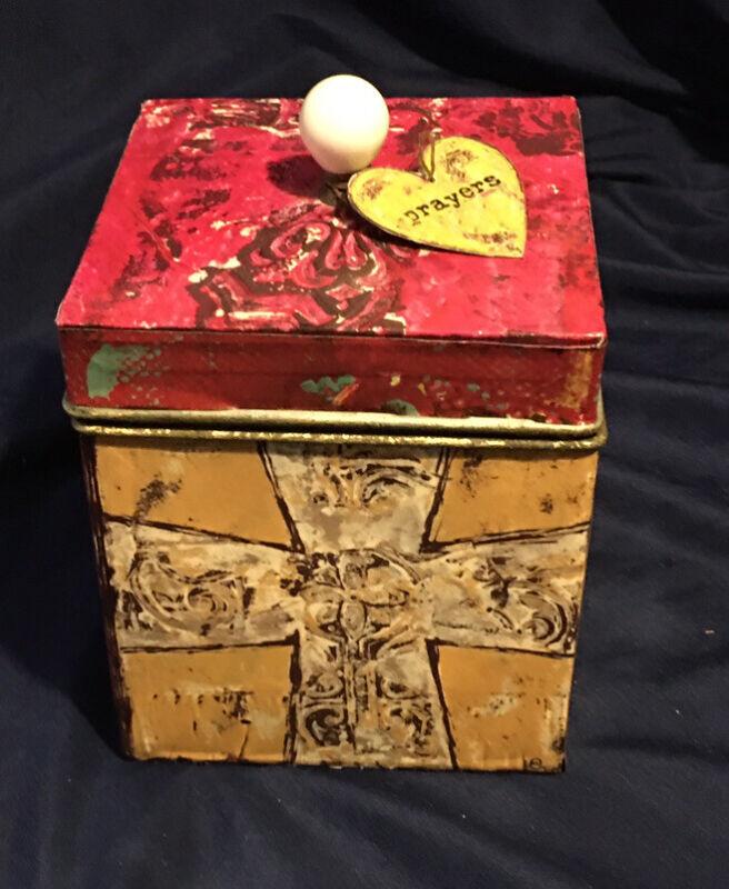 decorative tin box