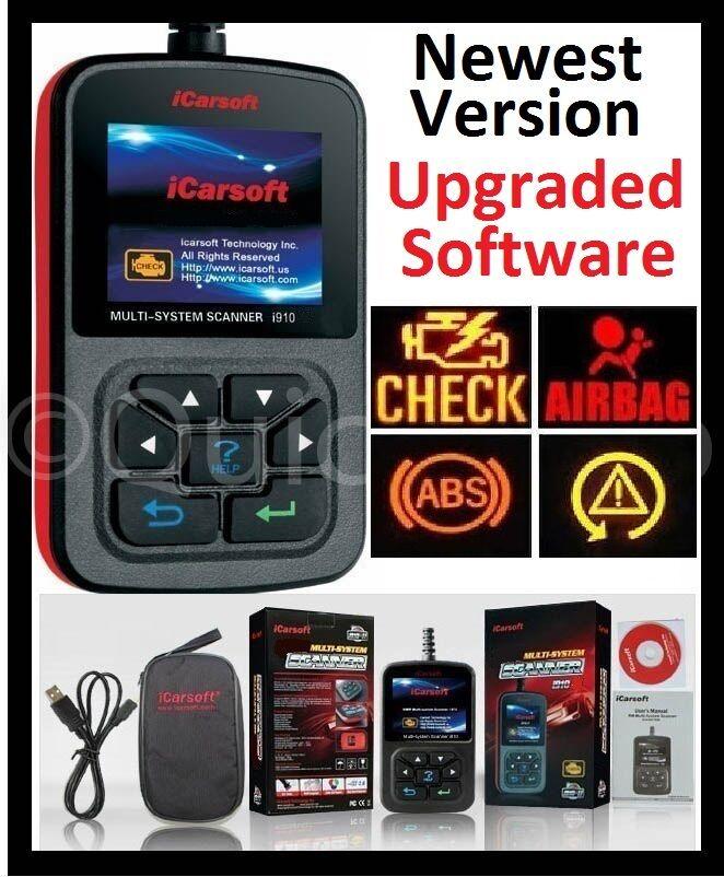 Diagnostic Scanner Tool Code Reader Scan Abs Srs Airbag