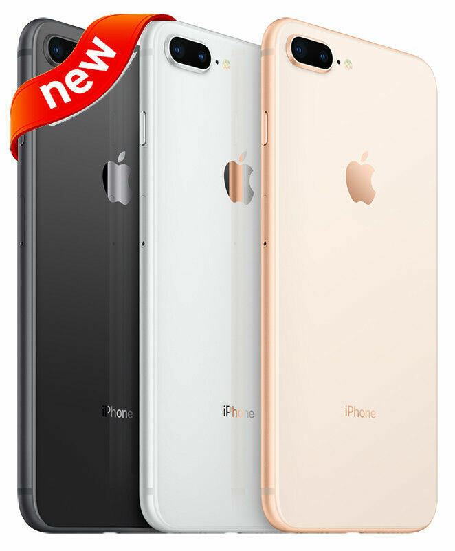 New Apple iPhone 8 Plus 64GB (GSM Unlocked) AT&T T-Mobile Metro PCS 4G LTE