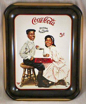 """"""" Retired """" Black Memorabilia Coca-Cola Tray"""