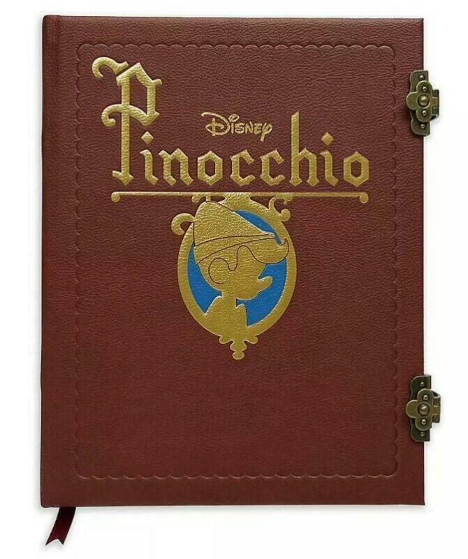 Disney Pinocchio Storybook Replica Journal Notebook Book NEW