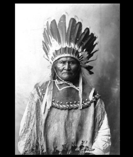 1907 Geronimo PHOTO Headdress Portrait Indian Medicine Man Leader Chief
