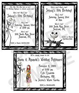 nightmare before christmas wedding invitations was good invitation ideas - Nightmare Before Christmas Wedding Invitations