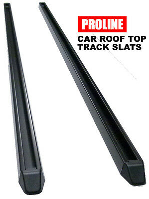 "Car Roof Top Track Slats (pair) 78"" long aluminum black finish"