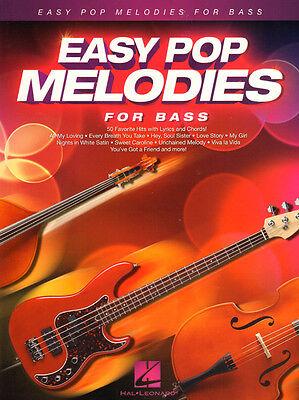 Easy Pop Melodies for Bass 50 Titel Noten für E-Bass Kontrabass