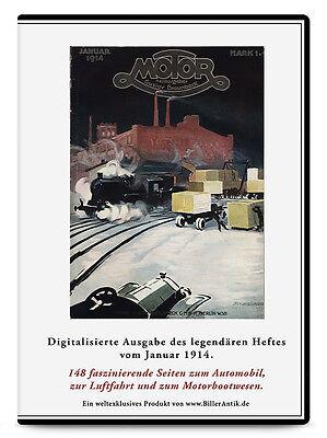 CD Union Doppeldecker Brennabor Werke Braunbeck Ronneburg MOTOR Januar 1914