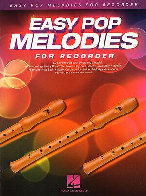 Easy Pop Melodies for Recorder 50 Titel Noten für Sopranblockflöte