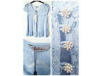 Baby blue Darling bolero/blouse