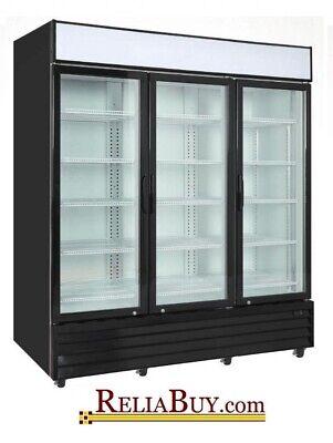 75cf Commercial 3-door Glass Door Display Refrigerator Merchandiser Cooler New