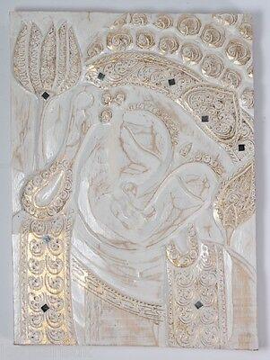 Buddha Wandrelief 40 cm x 30 cm Wanddeko Wandbild Bild 2 Energiebild