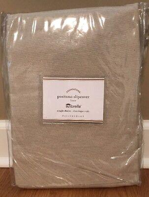 NEW Pottery Barn Postiano Single Chaise Lounge SUNBRELLA Cushion Cover LINEN ()