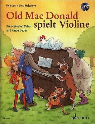 Violine Noten - OLD MAC DONALD SPIELT VIOLINE - Volks- und Kinderlieder + CD