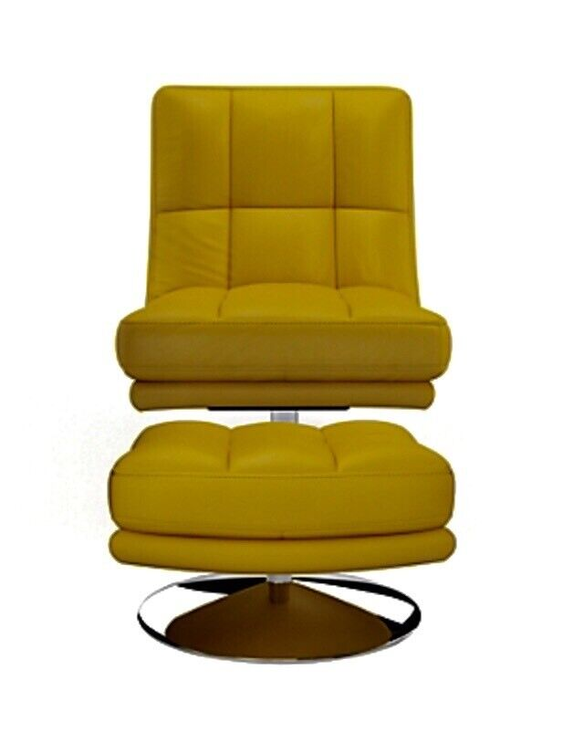 Astounding Immaculate Genuine Leather Swivel Chair Footstool In Cambuslang Glasgow Gumtree Gmtry Best Dining Table And Chair Ideas Images Gmtryco