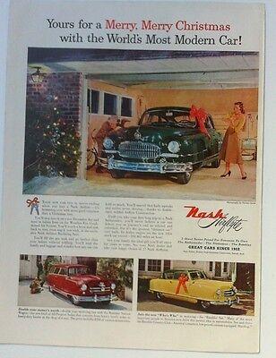 "1952 AMC Nash Laurence Olivier ORIGINAL 10x13"" AD - Great Garage Decor"