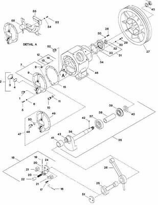 Ingersoll Rand T30 Model 253 Crankshaft Assembly with Bearing 30211593 - #Ref 35 for sale  USA