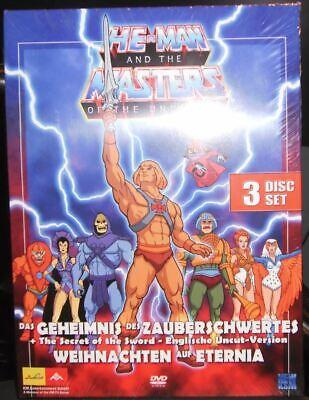 HE-MAN SHE-RA - Zauberschwert / Weihnachten DVD 3 Disc Box !! + englisch UNCUT !