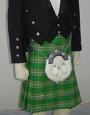 Scottish | Heritage of Ireland Tartan Heavy Kilt & Kilt Pin | Geoffrey
