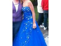 Prom dress size 8 royal blue