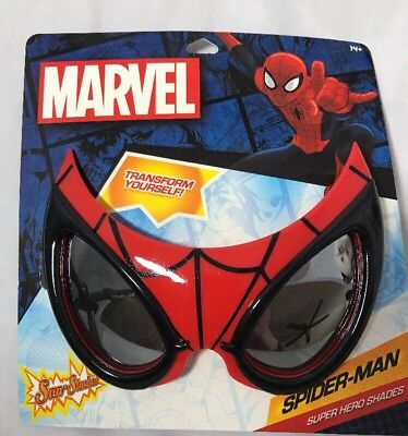 Sun-Staches Spider-Man Marvel Super Hero Sunglasses Cosplay Costume Eyewear New