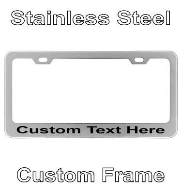 Personalized Engraved License Plate Tag Frame Text Letter Holder Chrome Custom - Personalized License Plate Frame